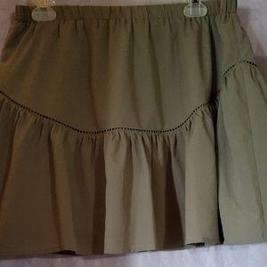 Banana Republic Olive Green Stretch Waist Skirt